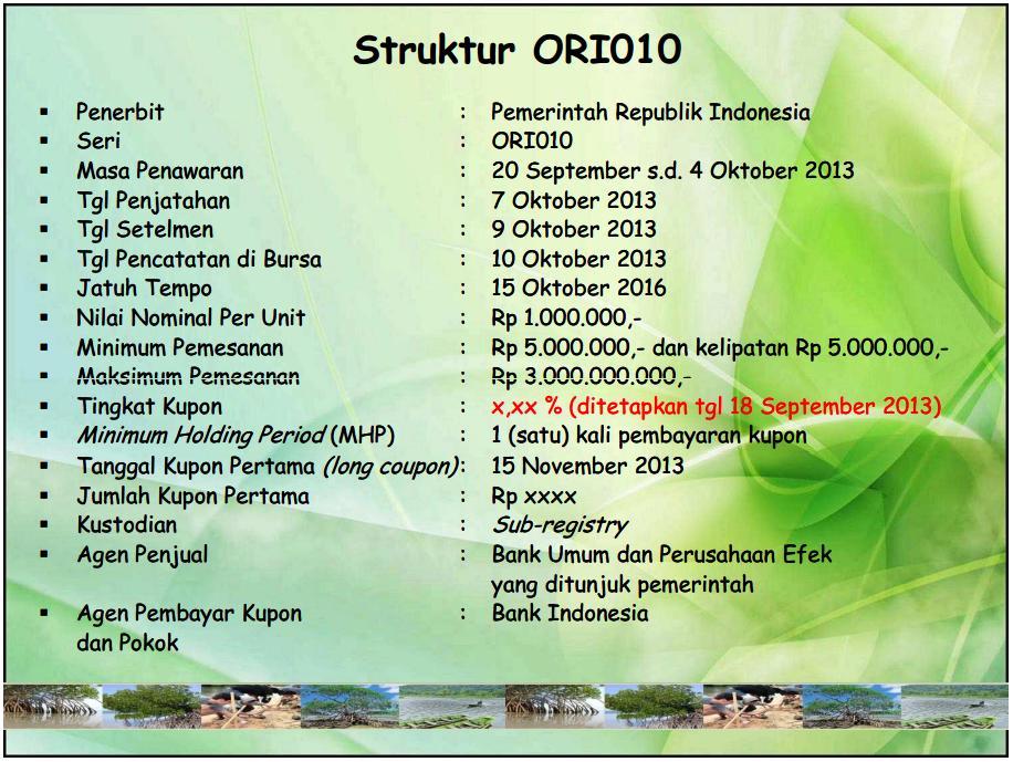 Ori 010 Obligasi Ritel Indonesia Seri 010 Pusat Informasi